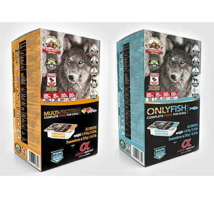 2 x 1.47kgs - Alpha Spirit Semi-moist Complete Only Fish & Multi Protein - Multi Buy
