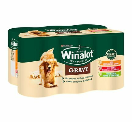 24 x 400g Winalot Casserole Selections Dog Food in Gravy Mixed Variety