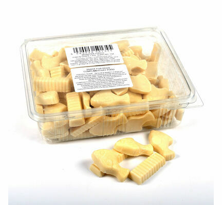 Monster Chocs Fish & Chips Milk Chocolate Treats For Dogs 1kg