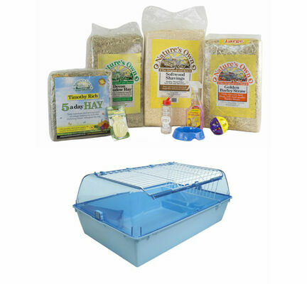 The Pet Express Guinea Pig Starter Kit With Cage Pink/Blue