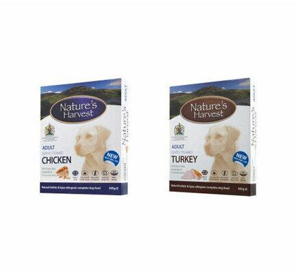 10 x 395g Adult Chicken & 10 x 395g Adult Turkey - Nature's HarvestWet Dog Food