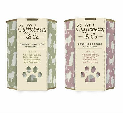 6 x 400g Chicken Quail & 6 x 400g Venison Duck - Cuffleberry & Co. Wet Dog Food