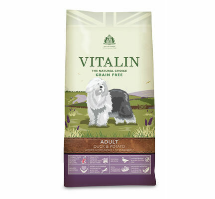 Vitalin Natural Grain Free Duck & Potato Adult Dry Dog Food
