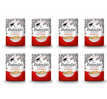 8 x 85g Cheshire Cat's Garden Fresh Chicken Pouches
