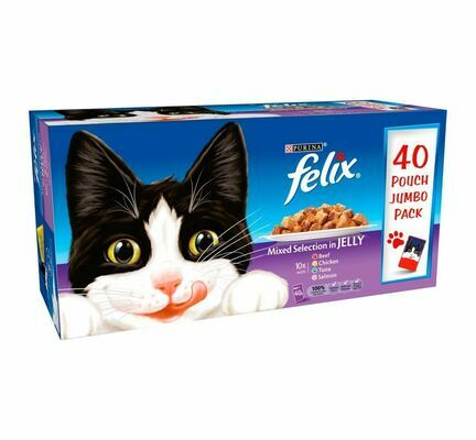 40 x 100g Felix Pouch Mixed Selection In Jelly