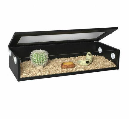 Monkfield Terrainium Reptile Vivarium - 36 Inch Black