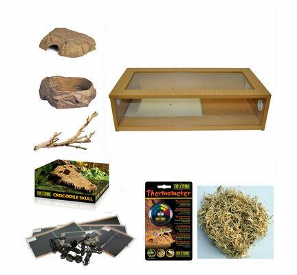 """Monkfield Vivarium Corn Snake Starter Kit - Oak (30"""")"""