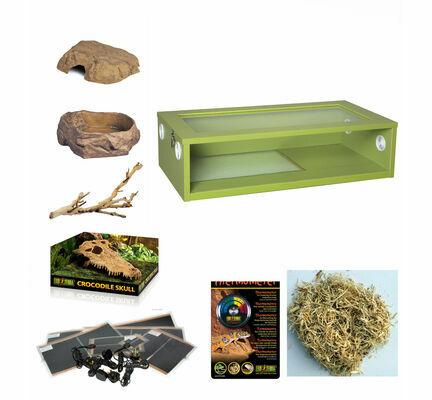 The Pet Express Monkfield Vivarium Corn Snake Starter Kit - Green 30 Inch