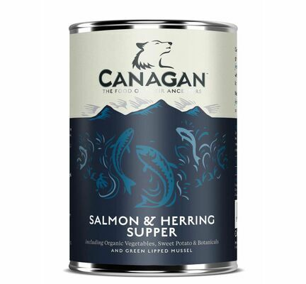6 x 400g Canagan Salmon & Herring Supper Wet Dog Food