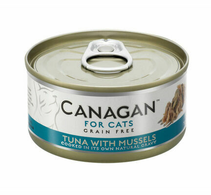 12 x 75g Canagan Tuna with Mussels Grain-Free Cat Food