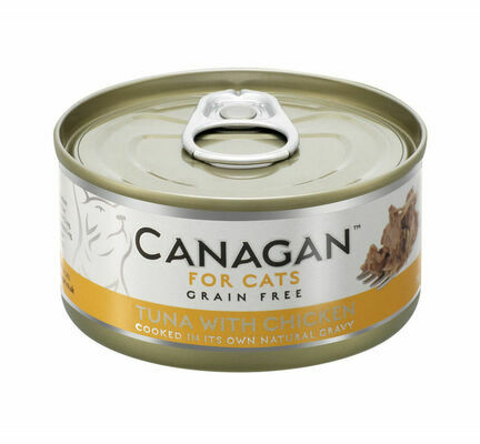 12 x 75g Canagan Tuna with Chicken Grain-Free Cat Food