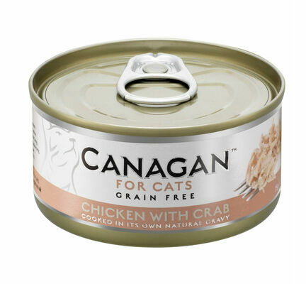 12 x 75g Canagan Free Run Chicken with Crab Grain-Free Cat Food