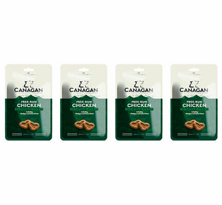 4 x 150g Canagan Free Run Chicken Biscuit Bakes Dog Treats