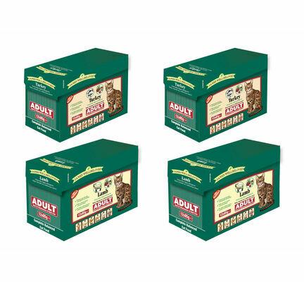 2 x James Wellbeloved Lamb & 2 x James Wellbeloved Turkey Adult Wet Cat Food - 12 x 85g