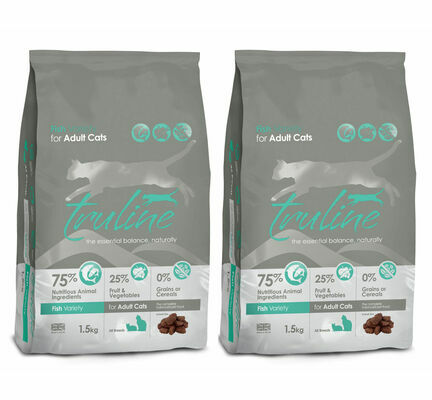 2 x 1.5kg Truline Fish Variety Dry Cat Food