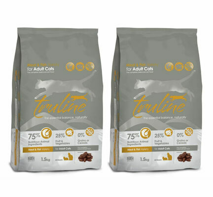 2 x 1.5kg Truline Meat & Fish Variety Dry Cat Food