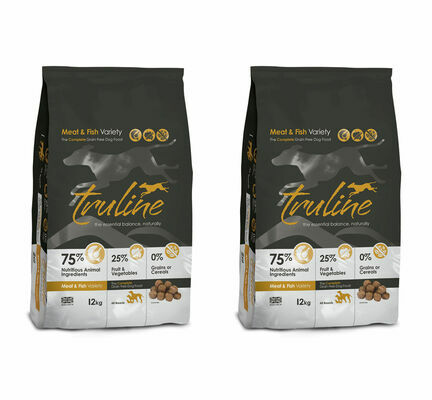 2 x 12kg Truline Meat and Fish Variety Dry Dog Food