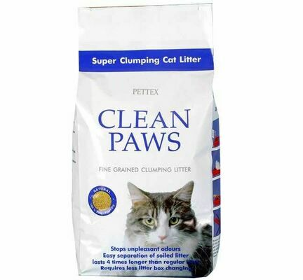 3 x 5kg Pettex Clean Paws Super Clumping Cat Litter