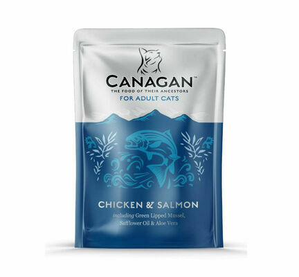 8 x 85g Canagan Chicken & Salmon Wet Cat Food Pouches