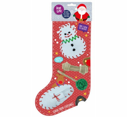 James & Steel Super Chew Dog Christmas Stocking