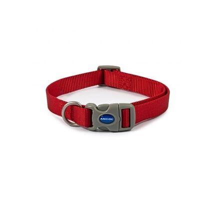 Ancol Viva Nylon Adjustable Dog Collar Red