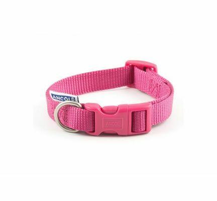 Ancol Viva Nylon Adjustable Dog Collar Pink
