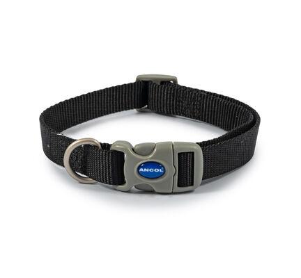 Ancol Viva Nylon Adjustable Dog Collar Black