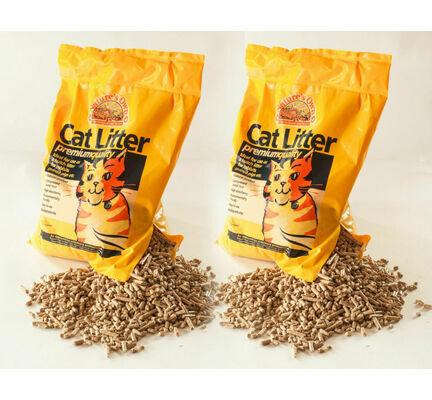 2 x 30L Nature's Own Premium Wood Pellet Dust Free Cat Litter