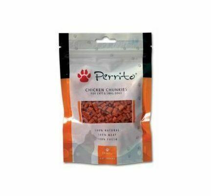 Perrito Chicken Chunkies Cat Snacks 100g