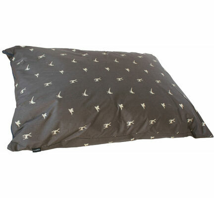 Hem and Boo Deep Duvet Country Print Dog Cushion in Brown and Sand
