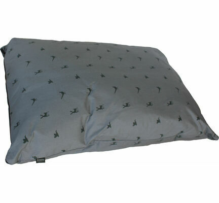 Hem and Boo Deep Duvet Country Print Dog Cushion in Slate and Charcoal