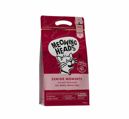 Meowing Heads Senior Moments Dry Cat Food