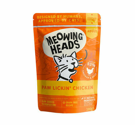 Meowing Heads Paw Lickin' Chicken Wet Cat Food