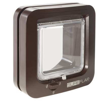 SureFlap Microchip Cat Flap in Brown