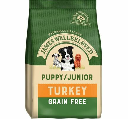 James Wellbeloved Puppy/Junior Food Grain Free Turkey & Veg 1.5kg
