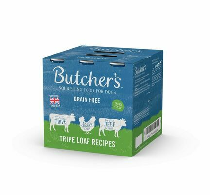 18 x Butcher's Can Dog Food -Tripe Loaf Recipes 400g