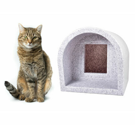 Mr Snugs KatDen Outdoor Cat Kennel/Shelter - White Marble (Various Options)