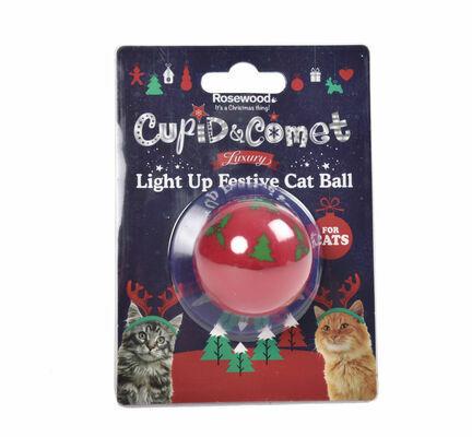 Rosewood Luxury Light Up Festive Cat Ball
