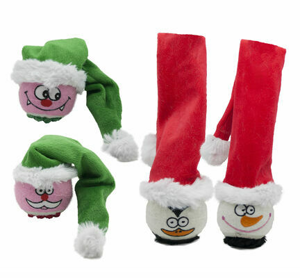Festive Tennis Ball Dog Toy (Assorted)