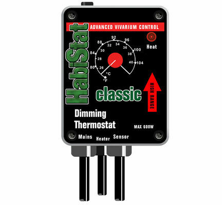 HabiStat Dimming Thermostat High Range Black 600w