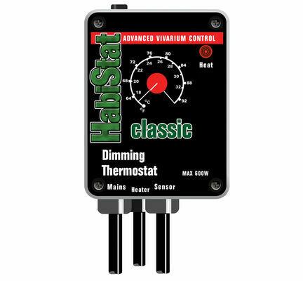 HabiStat Dimming Thermostat Black 600w
