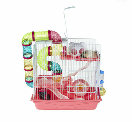 Sky Pet Products Henry Hamster Cage Pink