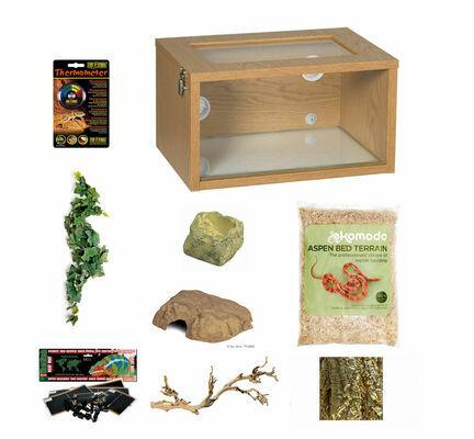 The Pet Express Corn/Milk/King Snake Starter Kit Oak (Tall)