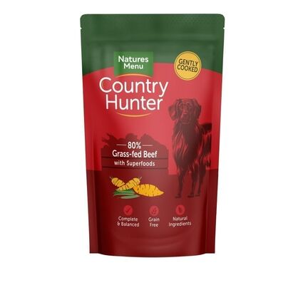 Country Hunter Grass Fed Beef Wet Dog Food Pouch