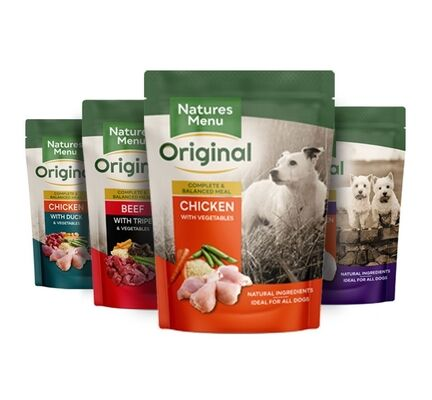 8 x 300g Natures Menu Meaty Multipack Adult Wet Dog Food Pouches