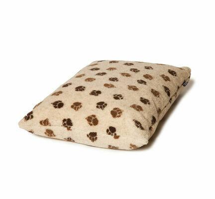 Danish Design Fleece Beige Brown Paw Dog Duvet Cover