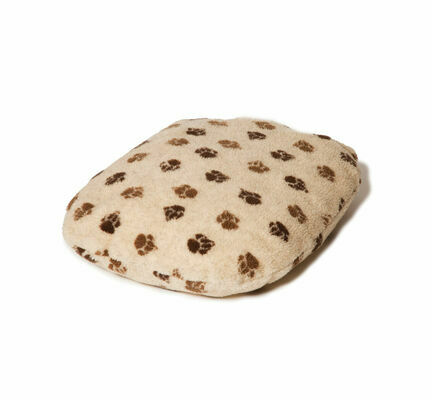 Danish Design Fleece Beige Brown Paw Fibre Bed