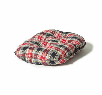 Danish Design Lumberjack Red/Grey Quilted Dog Mattress