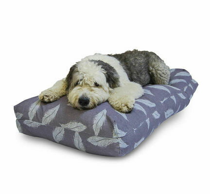 Danish Design Retreat Eco-Wellness Feather Grey/Duck Egg Memory Foam Dog Bed