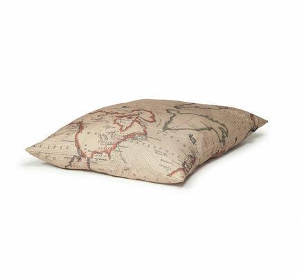 Danish Design Vintage Maps Dog Duvet Cover